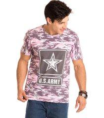 camiseta masculina army total sublimada - area verde - multicolorido - masculino - dafiti
