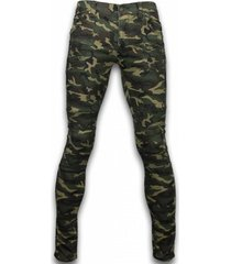 jeans true rise ripped camo jeans - slim fit biker jeans camouflage -