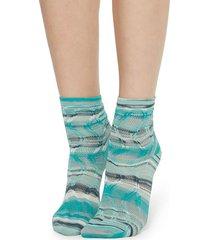 calzedonia socks with fancy motif woman green size tu