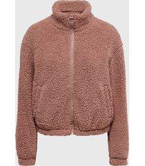 chaqueta jacqueline de yong rosa - calce regular