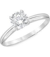 14k white gold & 1 tcw lab-grown diamond engagement ring