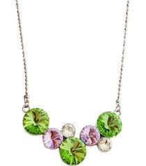 collar ambición rodio swarovski verde joyas montero