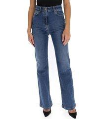 flared jeans met lichter effect