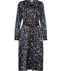 kabita dress jurk knielengte blauw kaffe