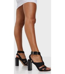 river island elastic block heel sandal high heel
