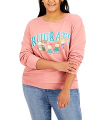 love tribe trendy plus size rugrats-graphic sweatshirt