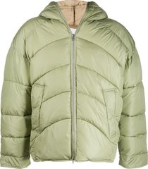 random identities oversized padded coat - green