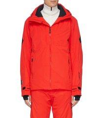 'aeration' stripe ski jacket