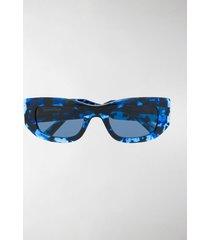 balenciaga eyewear blow rectangle sunglasses