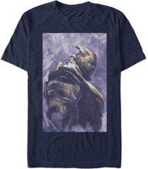 marvel men's avengers infinity war painted thanos side profile short sleeve t-shirt