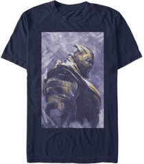 marvel men's avengers infinity war painted thanos side profile short sleeve t-shirt