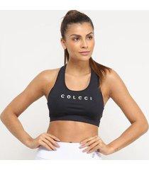top colcci fitness logo metálico média sustentação