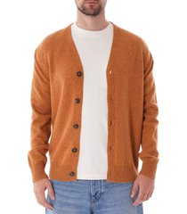 norse projects adam lambswool cardigan - yellow n45-0395