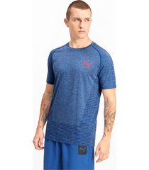 tec sports evoknit basic t-shirt voor heren, blauw, maat l | puma