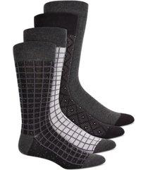 alfani men's 4-pk. printed socks, created for macy's