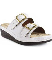 sandalia plataforma casual confort para dama color blanco 6922287blanco