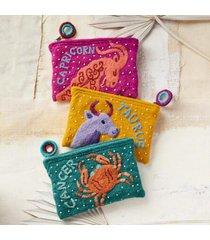 sundance catalog women's zodiac jewelry pouch