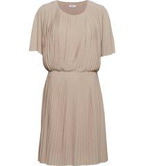 pleated dress kort klänning beige filippa k