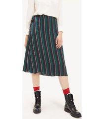tommy hilfiger women's stripe wrap skirt sky captain stripe - 10