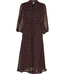 alminagz dress ma19 maxi dress galajurk multi/patroon gestuz