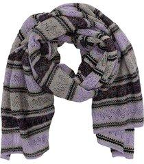 m missoni striped lurex knit scarf