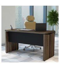 mesa operacional para computador artany y37 home office nogal/preto