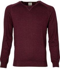 jac hensen premium pullover - slim fit -bordo