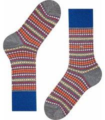 burlington socks country fair isle socks | grey multi | 21922-3070