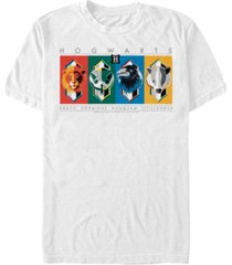 fifth sun harry potter men's hogwarts house animal mascots short sleeve t-shirt