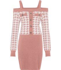 abito in maglia con spalline (fucsia) - bodyflirt boutique