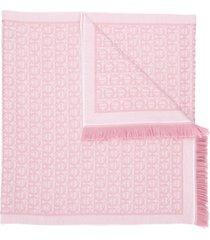 salvatore ferragamo gancini scarf - pink