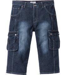 jeans cargo 3/4 regular fit (blu) - john baner jeanswear