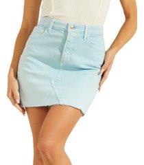guess rue denim mini skirt