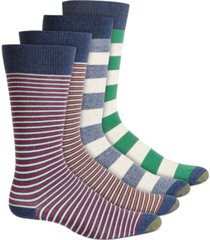 gold toe men's 4-pk. striped crew socks