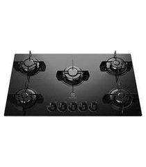 cooktop a gás electrolux mesa de vidro com 05 bocas, acendimento super automático, preto - ke5gp