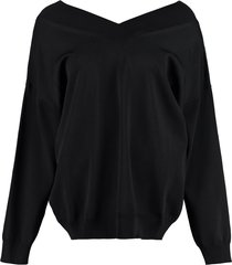 pinko paracadutismo stretch cotton sweater