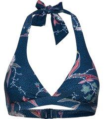 balinese retreat halter bra bikinitop blauw seafolly