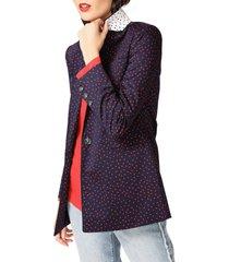 women's court & rowe scatter dot blazer, size 16 - blue
