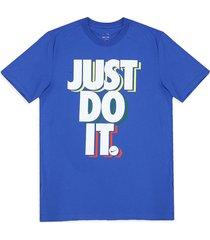 camiseta azul royal-blanco nike nsw ss tee jdi game
