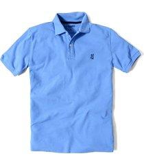 camiseta tipo polo jack supplies tela pique para hombre - azul claro
