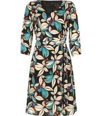 jurk met bloemenprint cami  blauw