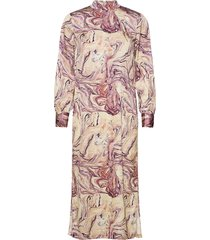 marble printed high neck dress maxi dress galajurk multi/patroon scotch & soda