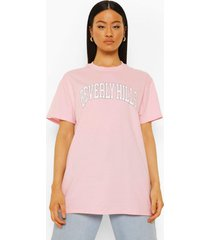 oversized beverly hills t-shirt, light pink