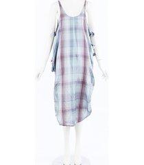 stella mccartney plaid silk midi dress