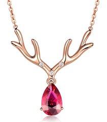collana in oro rosa con collana di rubini e collana in oro rosa per i regali