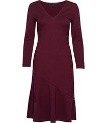 sancia lula jersey vnck dress knälång klänning röd french connection