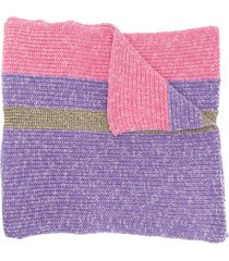 cashmere in love oversized striped scarf - pink