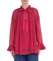 blouse con fiocco