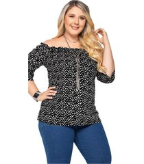 blusa adulto femenino estampado puntos marketing  personal