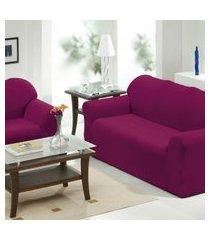 capa de sofá 2 e 3 lugares   vinho - panosul